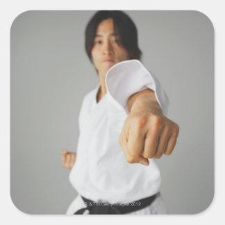 Blackbelt Punching Square Sticker