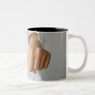 Blackbelt Punching Two-Tone Coffee Mug