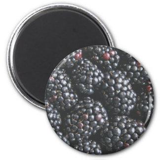Blackberries 6 Cm Round Magnet