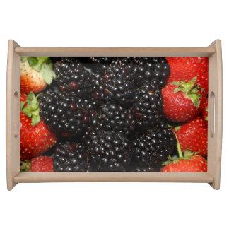Blackberries and Strawberries Serving Tray