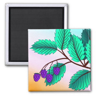 Blackberries on a branch refrigerator magnets