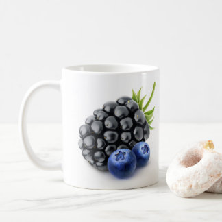 Blackberry and blueberries coffee mug