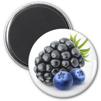 Blackberry and blueberries magnet