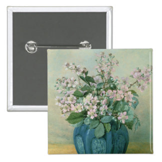 Blackberry Blossoms 15 Cm Square Badge