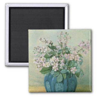 Blackberry Blossoms Square Magnet