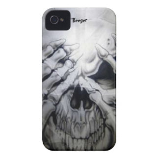 Blackberry bold - Peek-a-BOO Skull iPhone 4 Case-Mate Case