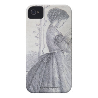 Blackberry case, 19th century fashion illustration Case-Mate iPhone 4 cases
