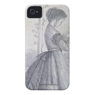 Blackberry case, 19th century fashion illustration iPhone 4 case