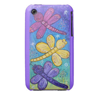 Blackberry Case-Dragonflies at play iPhone 3 Case-Mate Cases