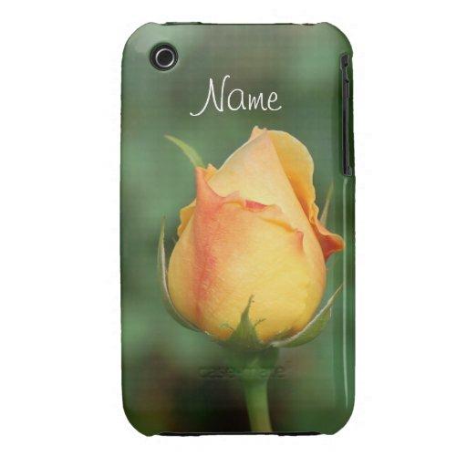 Blackberry Case  Yellow Rose
