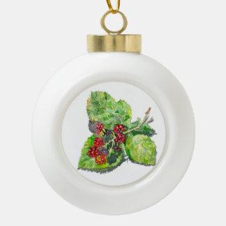 BlackBerry Ceramic Ball Christmas Ornament