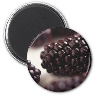 Blackberry Closeup 6 Cm Round Magnet