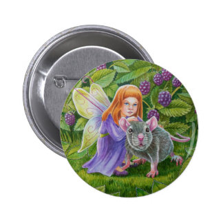 Blackberry Fairy and Pet Mouse 6 Cm Round Badge