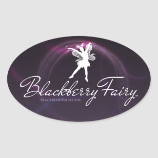 Blackberry Fairy Oval Logo Sticker