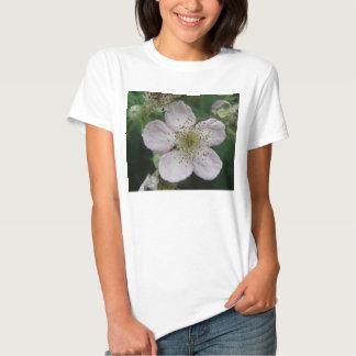 Blackberry Flower Macro Ladies T Shirt