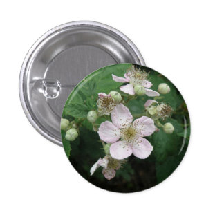 Blackberry Flowers Button