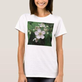 Blackberry Flowers Ladies T Shirt