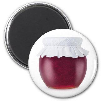 Blackberry jam 6 cm round magnet