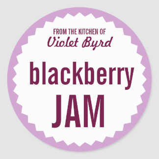 Blackberry Jam Home Canning Label Template