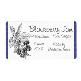 Blackberry Jam Jar Label (Custom)
