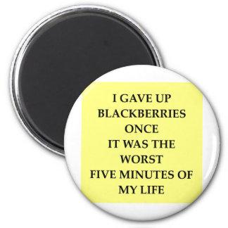 BLACKBERRY.jpg 6 Cm Round Magnet