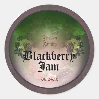 Blackberry Label 5 Round Sticker