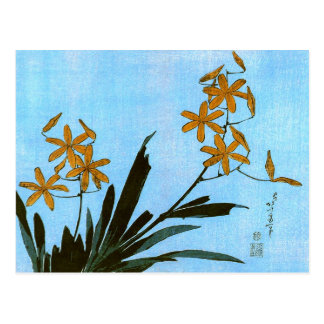Blackberry Lily Hokusai Japanese Fine Art Postcard