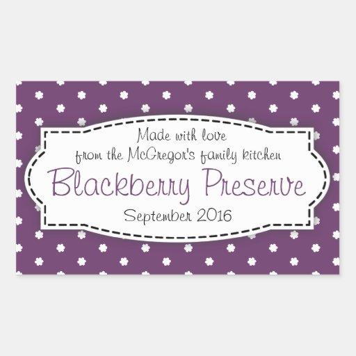 Blackberry preserve jam purple food label sticker