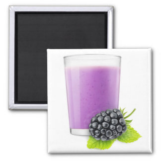 Blackberry smoothie square magnet