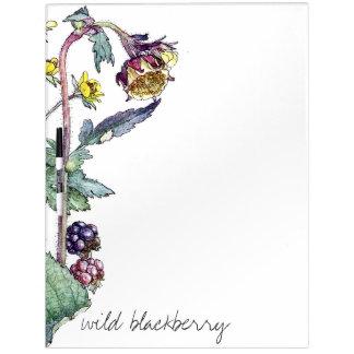 Blackberry Vine Berries Flowers Dry Erase Board