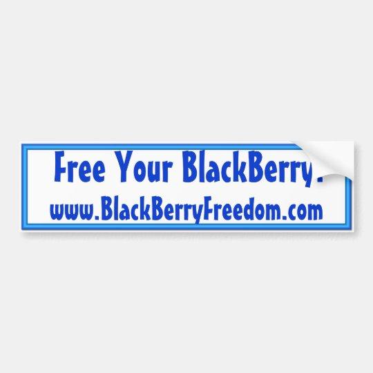 BlackBerryFreedom Bumper Sticker
