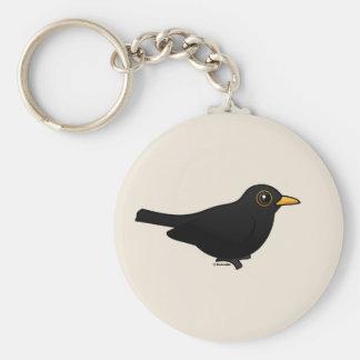 Blackbird Basic Round Button Key Ring