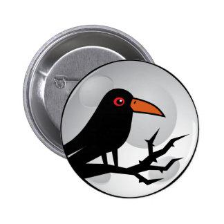 Blackbird Goth Raven/Crow 6 Cm Round Badge