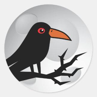 Blackbird Goth Raven/Crow Classic Round Sticker