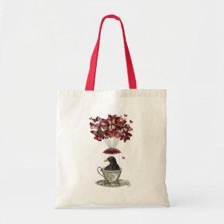 Blackbird In Teacup Budget Tote Bag