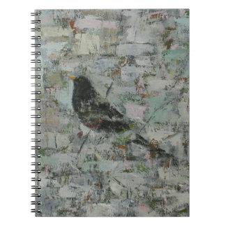 Blackbird in Tree Spiral Note Book