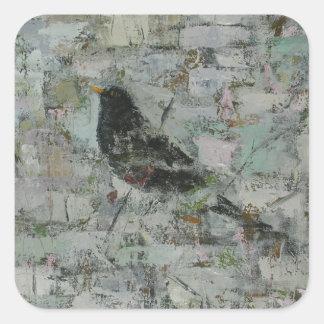 Blackbird in Tree Square Sticker