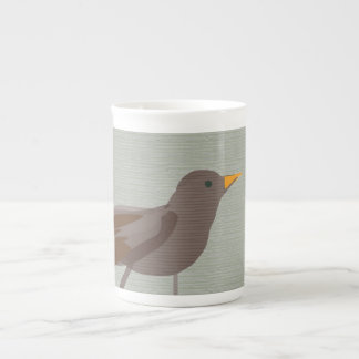 Blackbird minimal Art Siradesign Tea Cup
