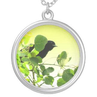 Blackbird Round Pendant Necklace