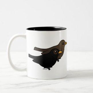 Blackbird Pair Coffee Mugs