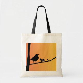 Blackbird Silhouette Budget Tote Bag