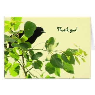 Blackbird Thank You Card