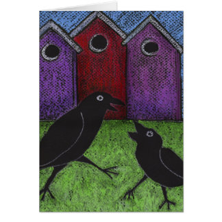 Blackbirds Playing Card