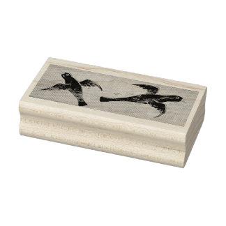 Blackbirds Swooping Rubber Stamp