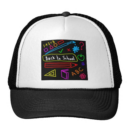 Blackboard Back To School Hats