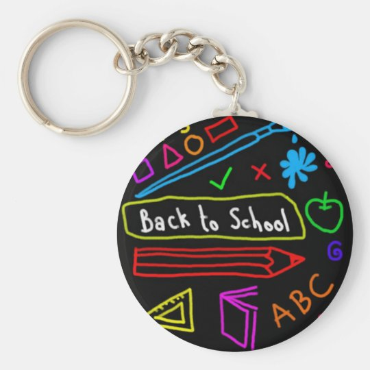 Blackboard Back To School Key Ring