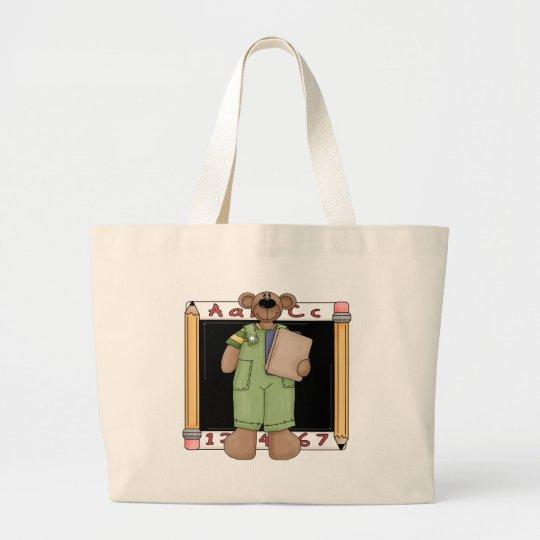 Blackboard Boy Bear Tote Bag