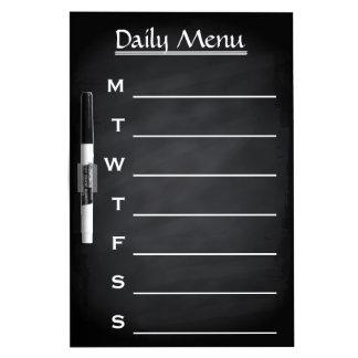 Blackboard Chalkboard Daily Menu Weekly Menu Dry-Erase Whiteboard