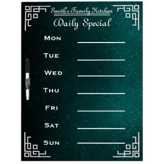 Blackboard Chalkboard Weekly Family Dinner Menu Dry-Erase Whiteboards