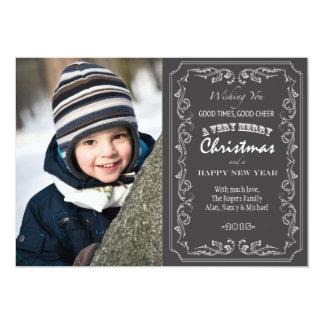 Blackboard Christmas Photo Card 13 Cm X 18 Cm Invitation Card